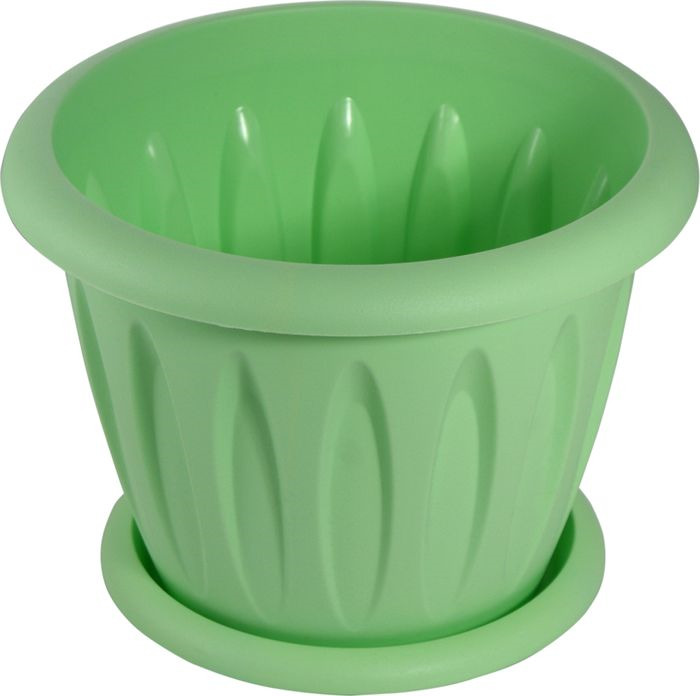 Горшок для цветов Мартика Фелиция, MRC104K с поддоном, диаметр 22,5 см, 3,6 л, цвет в ассортименте цена
