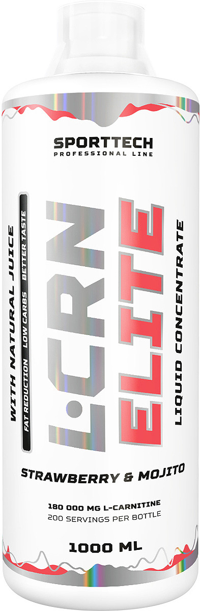 Карнитин Sport Technology Nutrition Elite Клубника-мохито, 1 л креатин olimp sport nutrition monohydrate powder 550 г