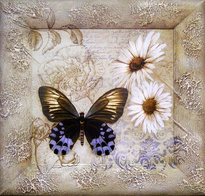 "Картина Dekart ""Бабочка 2"", 41,5 х 41,5 х 2 см"