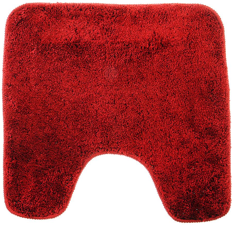 Коврик для туалета SonWelle Мягкий, 599054, бордовый, 50 х 75 см