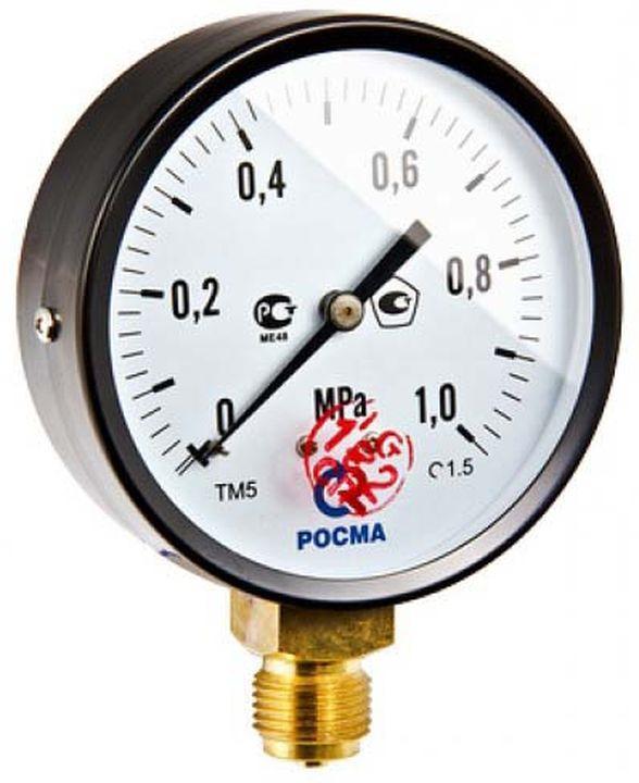 Манометр сантехнический Valtec TM-510P Ду 100 с нижним подключением (150°) 1/2, 0-16 бар термометр сантехнический valtec бt 30 dy63 накладной 0 150