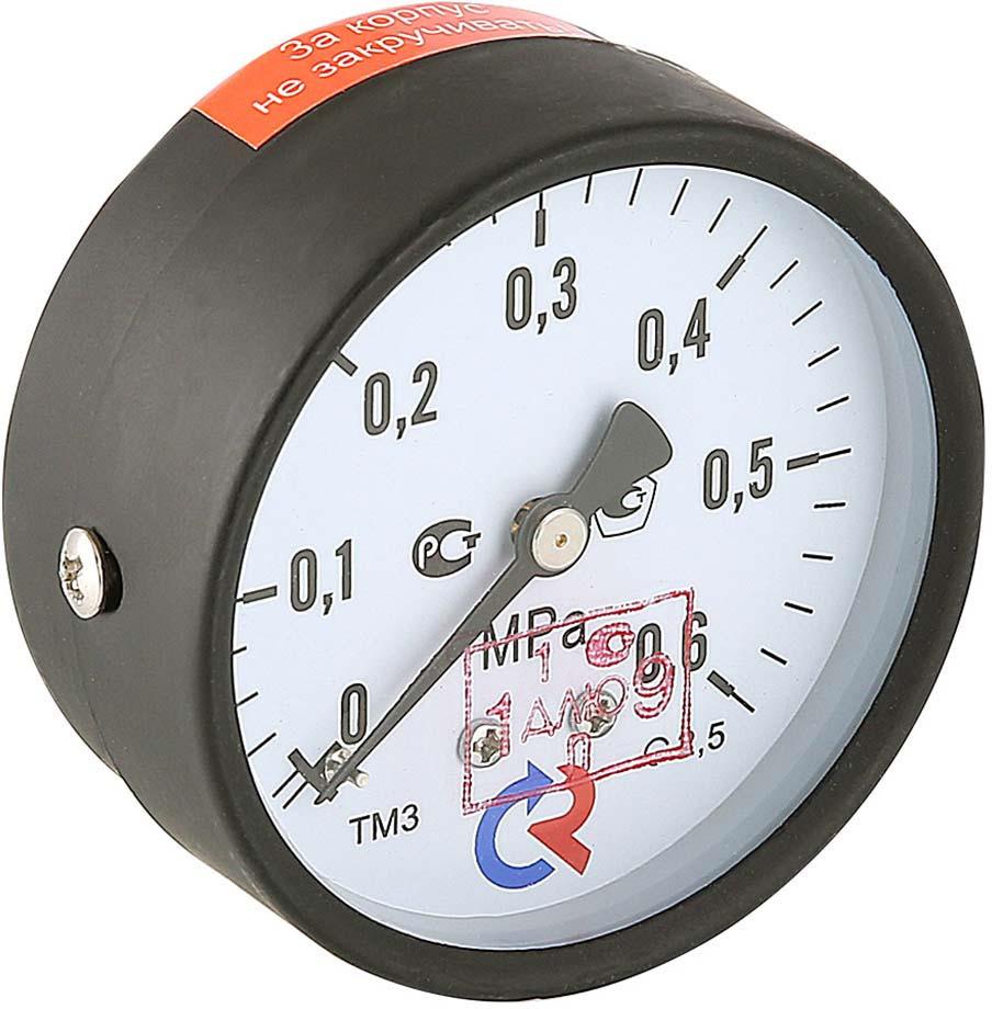 Манометр сантехнический Valtec TM310T Дy 63 с задним подключением 1/4, 0-6 бар stout термометр биметаллический с погружной гильзой корпус dn 80 мм гильза 75 мм 1 2