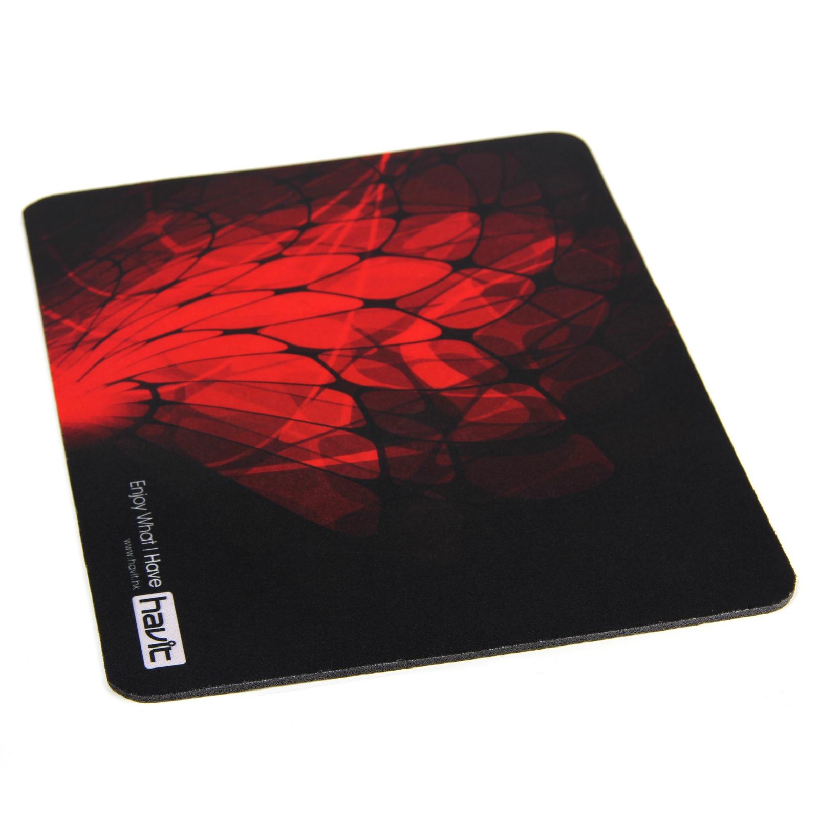 Коврик для мыши Havit HV-MP808, черный, красный