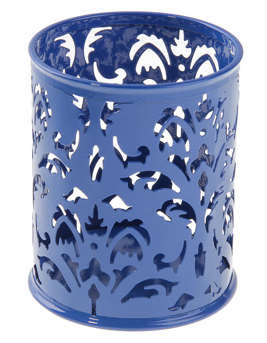 Подставка для канцелярских принадлежностей Calligrata Стакан, круглая, 160357, синий