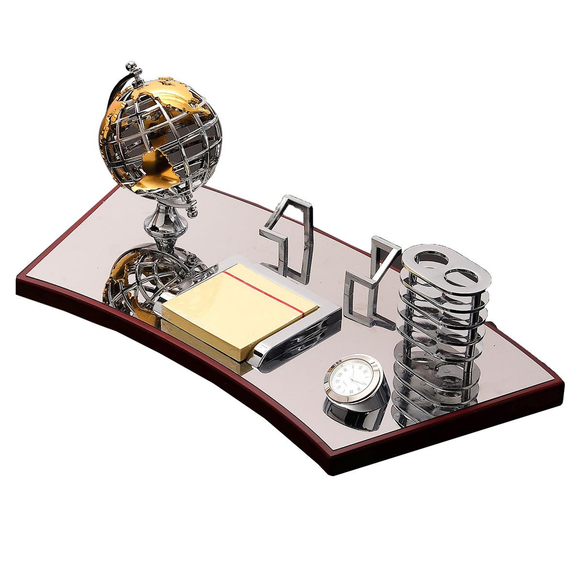 Канцелярский набор Глобус 5 в 1, 3598550, коричневый, 19 х 40 см
