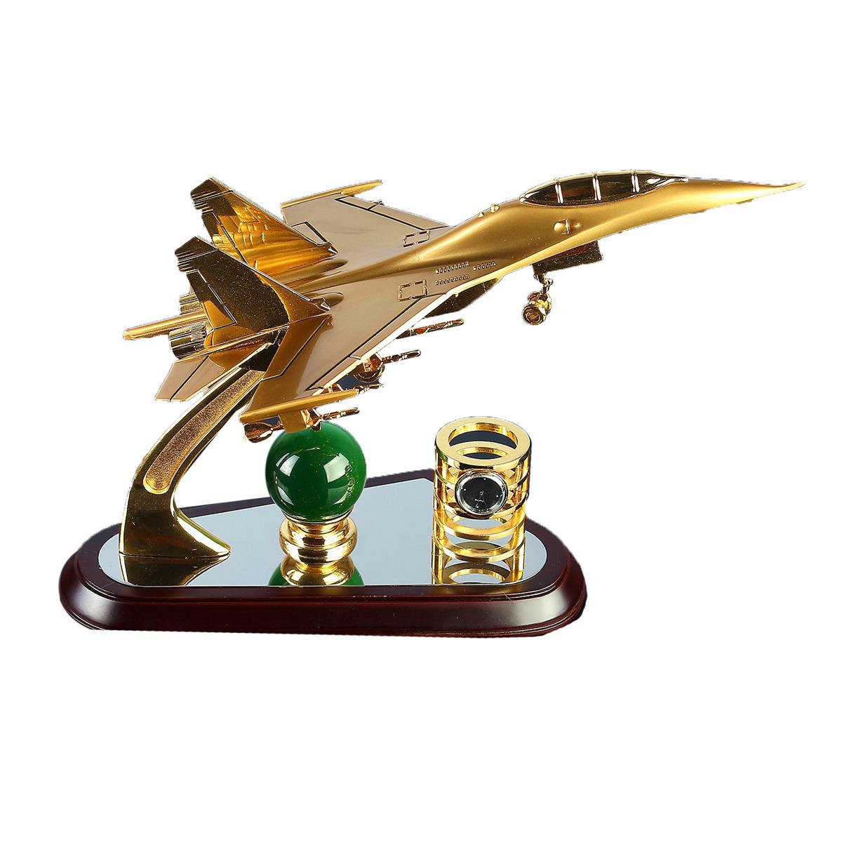 Канцелярский набор Самолет 3 в 1, 4166454, коричневый, 31 х 11 х 21 см
