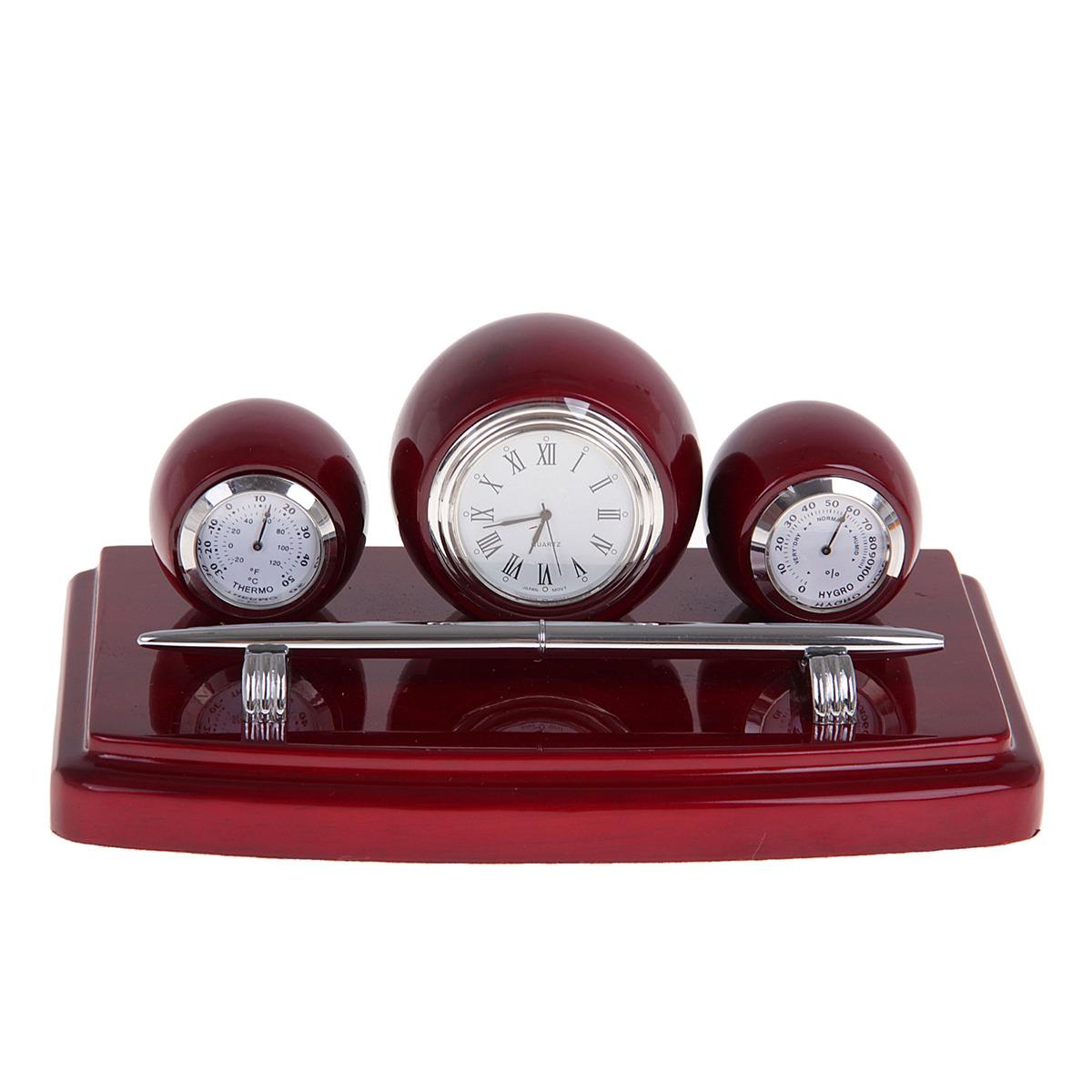 Канцелярский набор Часы 4 в 1, 186773, коричневый, 12 х 19,5 см
