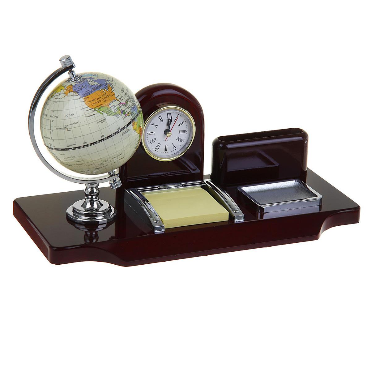Канцелярский набор Часы 5 в 1, 430109, коричневый, 19 х 24 х 16,5 см