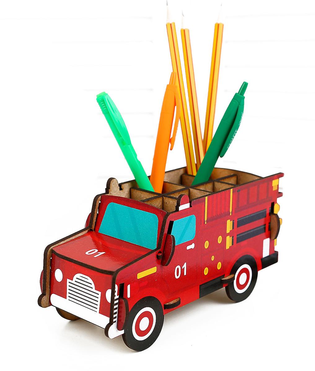 Подставка для канцелярских принадлежностей Пожарная машина, 3649872, красный принадлежности для дома new shk1008