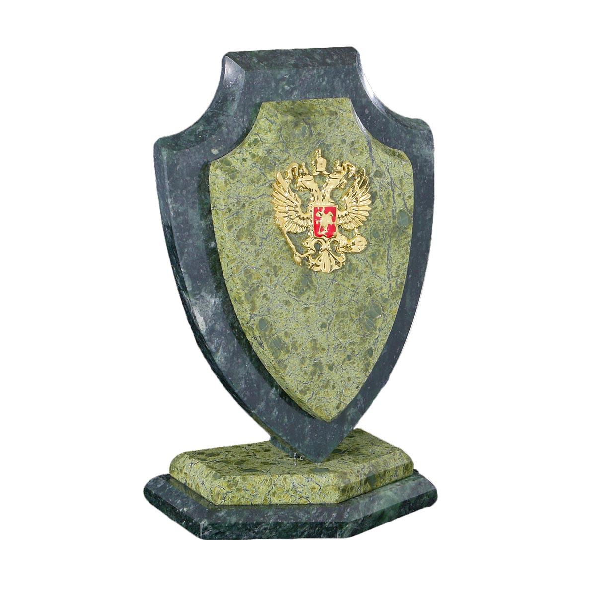 Канцелярский набор Сувенир Щит, малый, с гербом, 1101948, зеленый