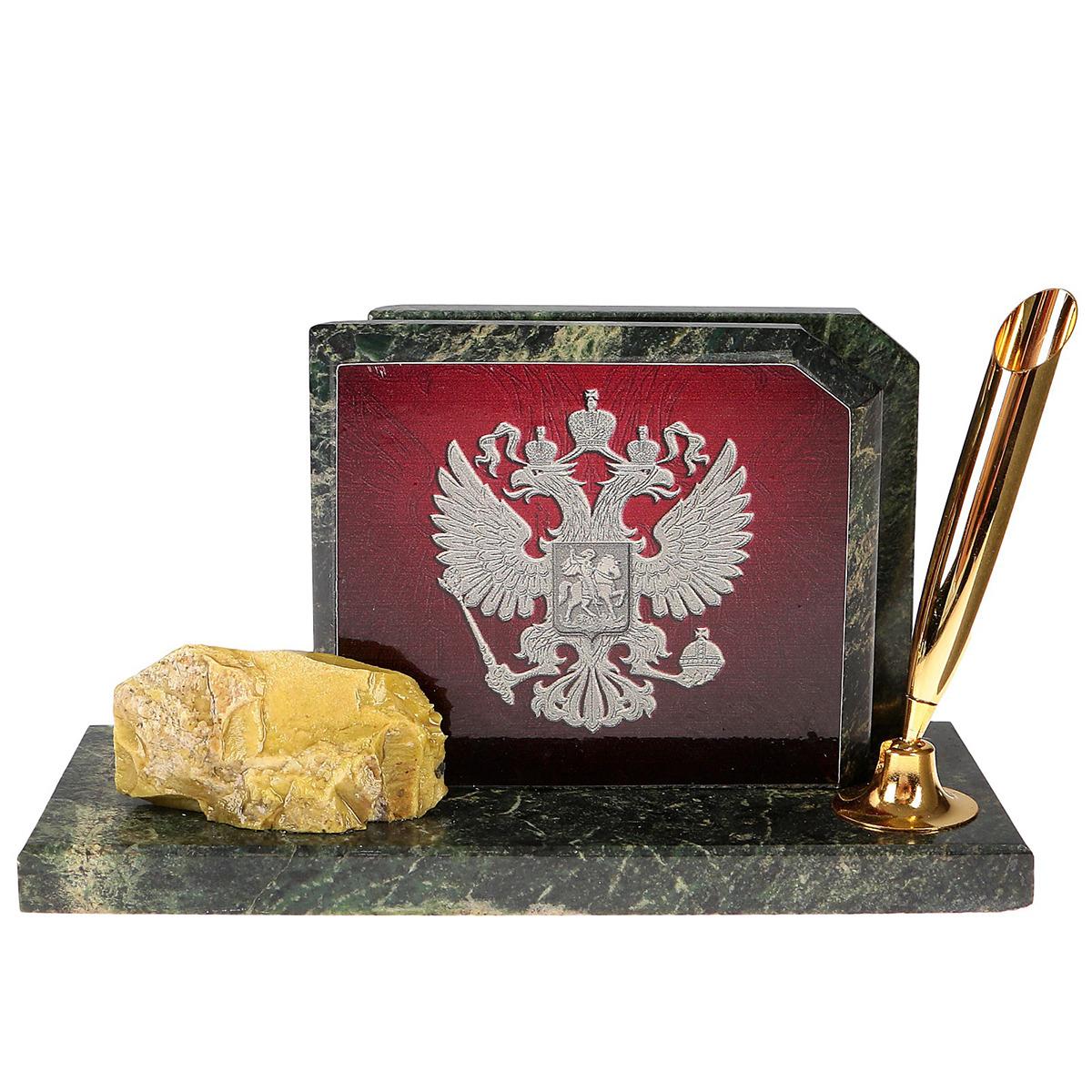 Канцелярский набор Герб на красном фоне, 3527980, зеленый