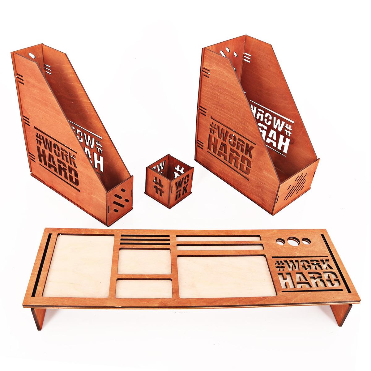 Органайзер для клавиатуры Work Hard, 3680297, коричневый, 54 х 17 х 6,9 см ИП Тропникова Марина Николаевна