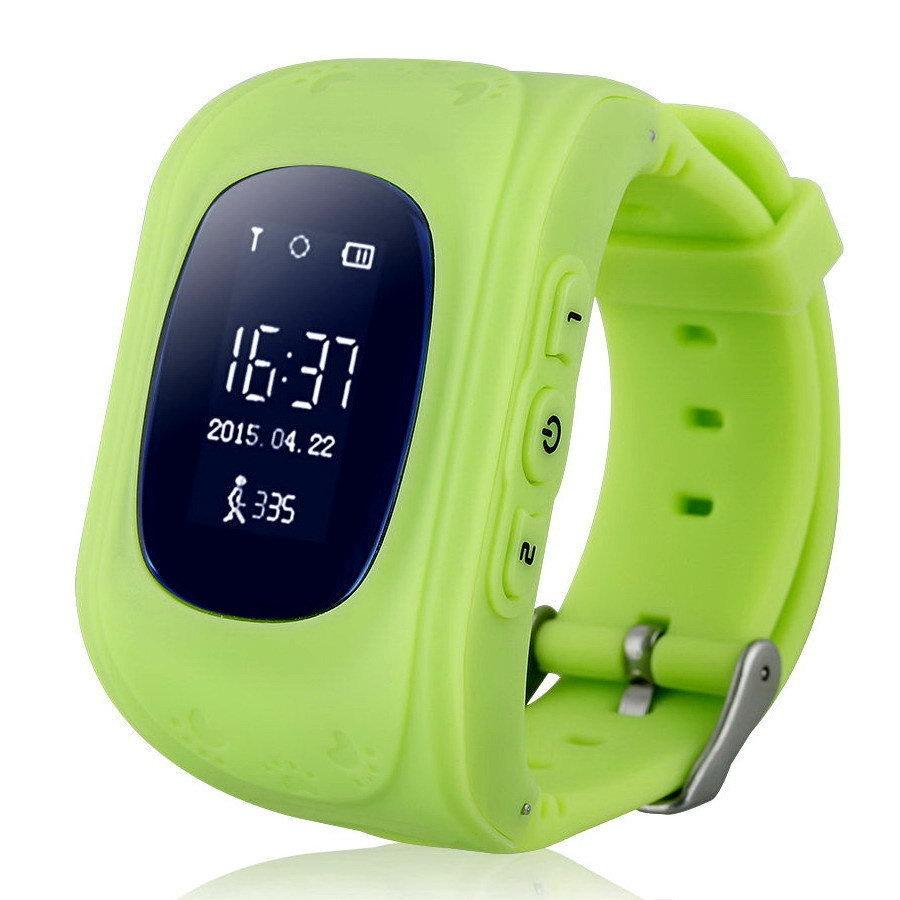 Детские умные часы телефон кнопочные (с gps и wi-fi)+ Приложение в подарок, Wokka Watch Q50, зеленый