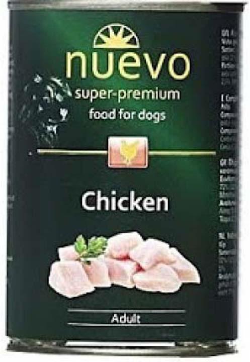Корм консервированный для собак Nuevo, курица, 800 г консервы для собак belcando с отборным мясом 800 г