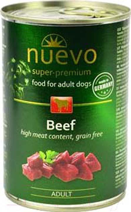 Корм консервированный для собак Nuevo, говядина, 800 г