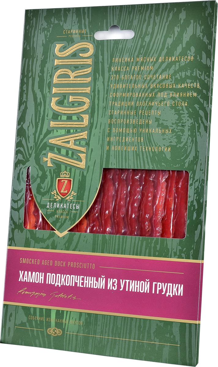 Хамон Zalgiris Подкопченый из утиной грудки, 30 г