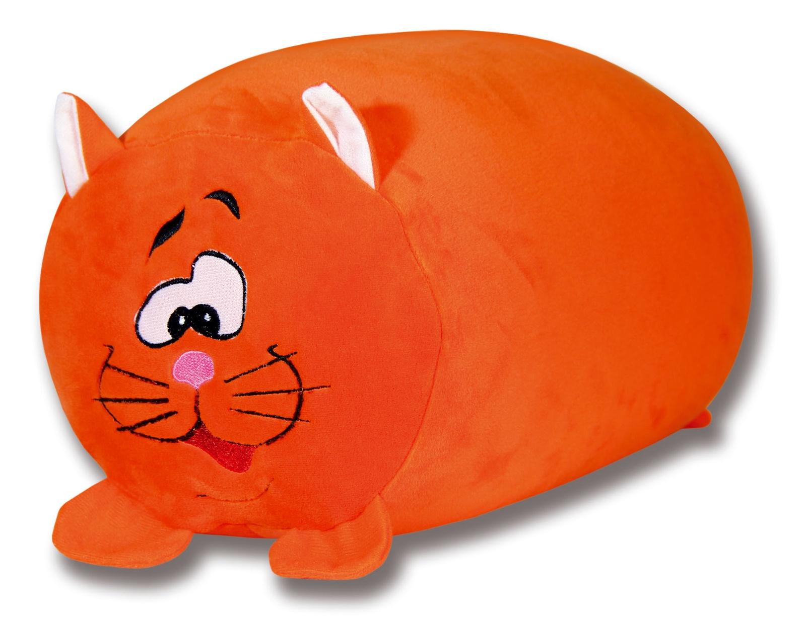Подушка-валик антистрессовая Штучки, к которым тянутся ручки Зверь. Кот, цвет: оранжевый, 33 x 23 см подушка валик антистрессовая штучки к которым тянутся ручки кот полосатый цвет малиновый 38 x 18 см