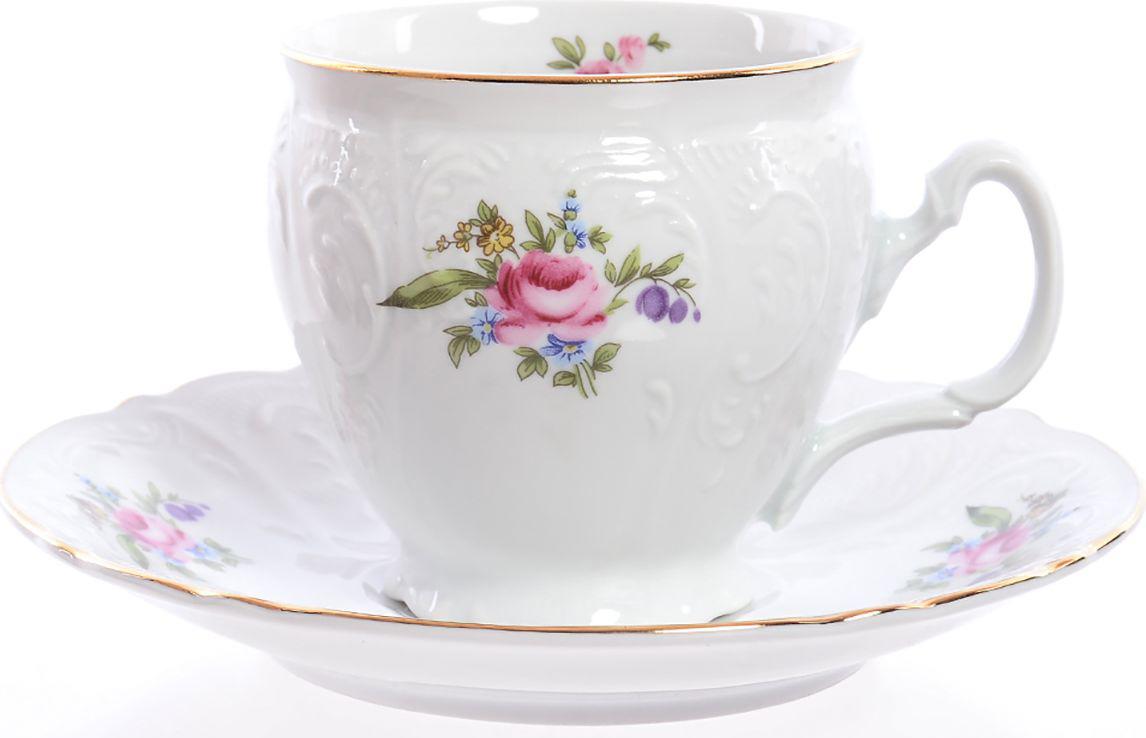 Набор чайный Bernadotte Полевой цветок, цвет: белый, 240 мл, 12 предметов. 3752 набор формочек borner цветок 6 предметов