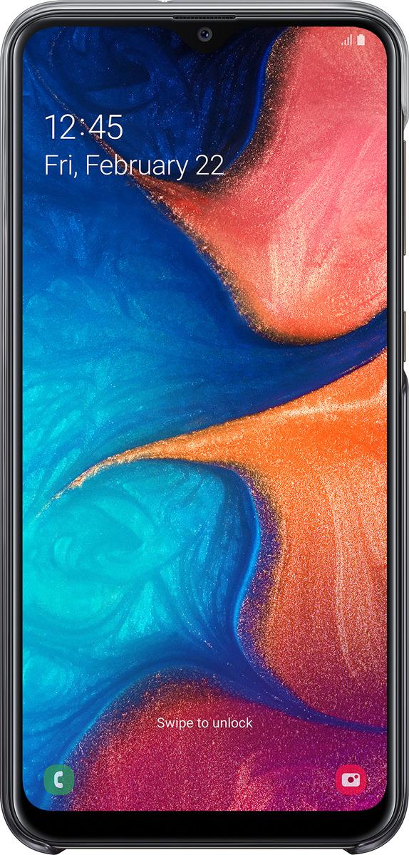 Чехол-накладка Samsung Gradation Cover для Samsung Galaxy A20, черный