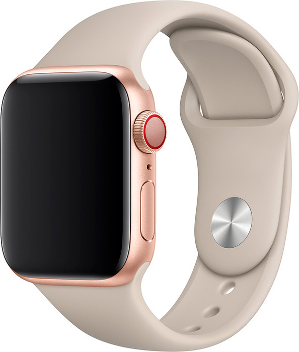 Ремешок для смарт-часов Apple Watch 40mm Stone Sport Band, бежевый, размер S/M & M/L цена