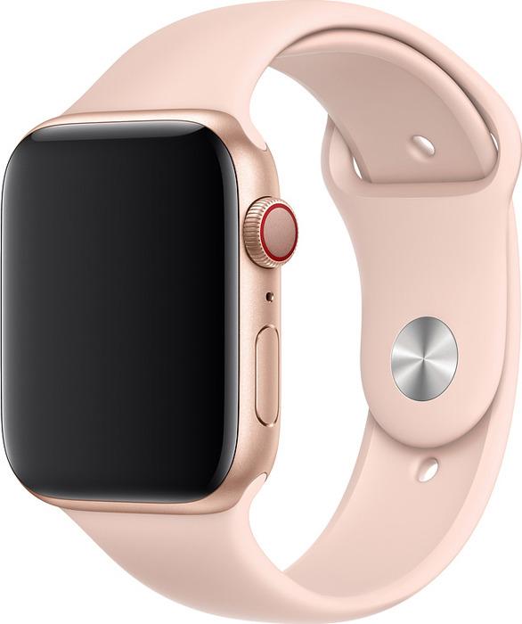 Ремешок для смарт-часов Apple Watch 44mm Pink Sand Sport Band, розовый, размер S/M & M/L цена
