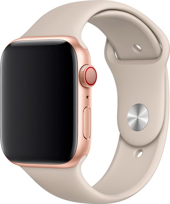 Ремешок для смарт-часов Apple Watch 44mm Stone Sport Band, бежевый, размер S/M & M/L цена
