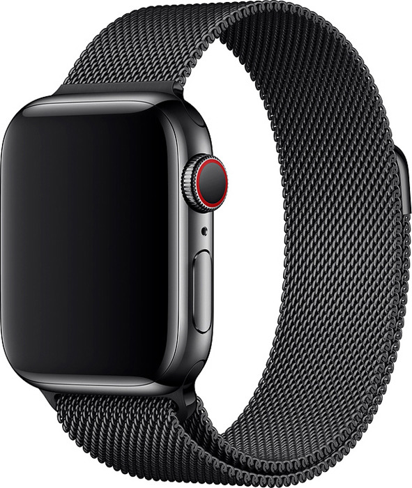 Ремешок для смарт-часов Apple Watch 40mm Space Black Milanese Loop, черный, размер S/M и M/L аксессуар ремешок apple watch 40mm sport band s m m l midnight blue mtph2zm a
