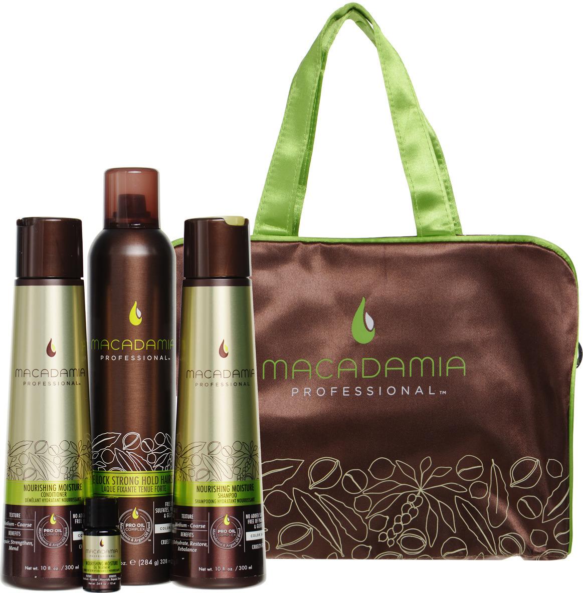 Косметический набор для волос Macadamia Professional Здоровье и стиль, NYNOURS18 macadamia macadamia шампунь восстанавливающий с маслом арганы и макадамии 1000 мл