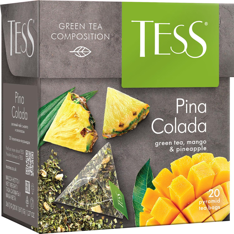 Tess Pina Colada ароматизированный чай в пакетиках, 20 шт цена