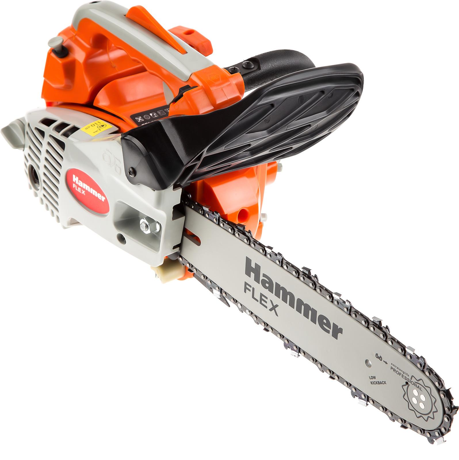 лучшая цена Бензопила Hammer Flex BPL2512B, 1000Вт, 1.36л.с., дл.шин.:12
