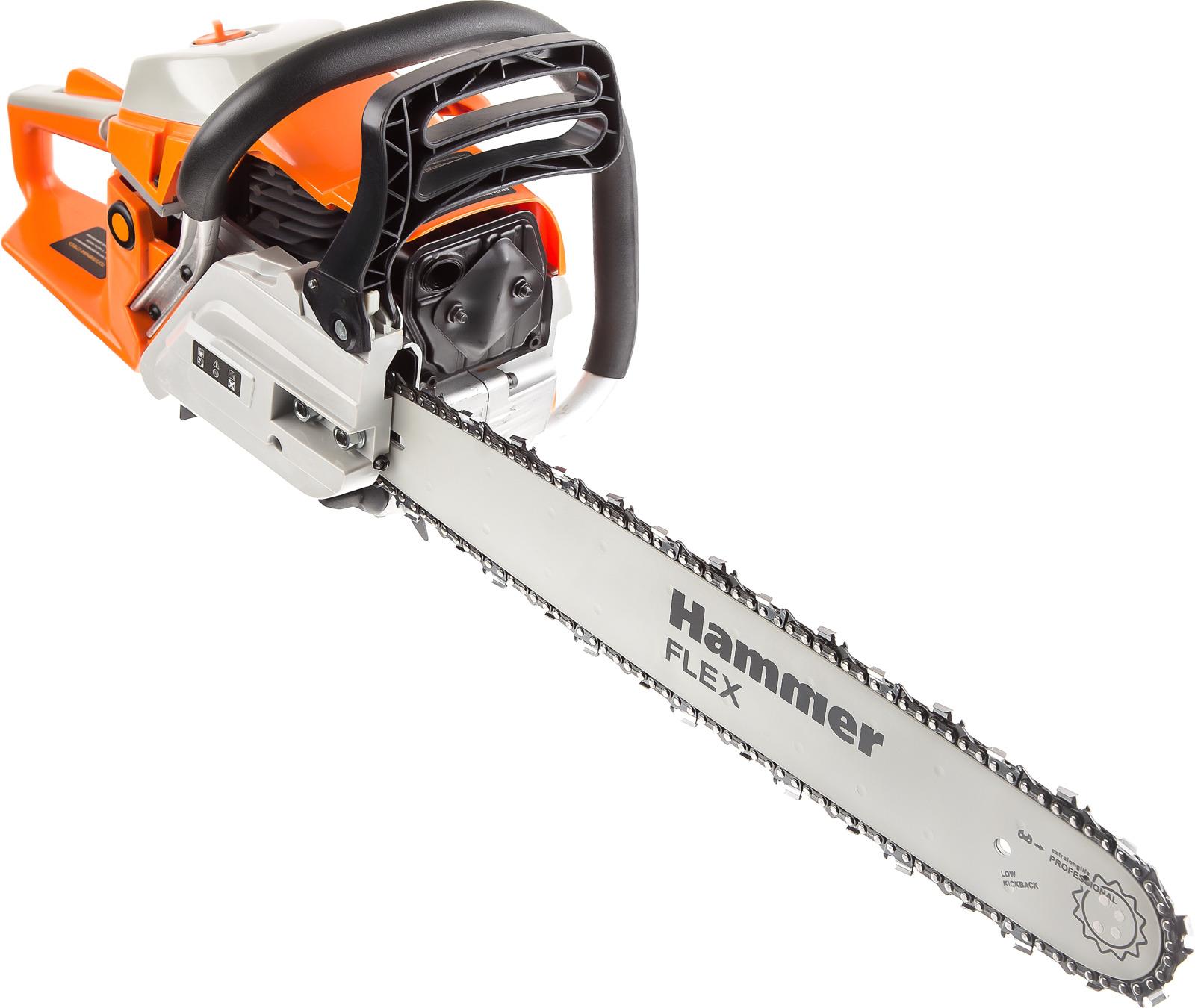 лучшая цена Бензопила Hammer Flex BPL5220B, 2200Вт, 2.99л.с., дл.шин.: 20