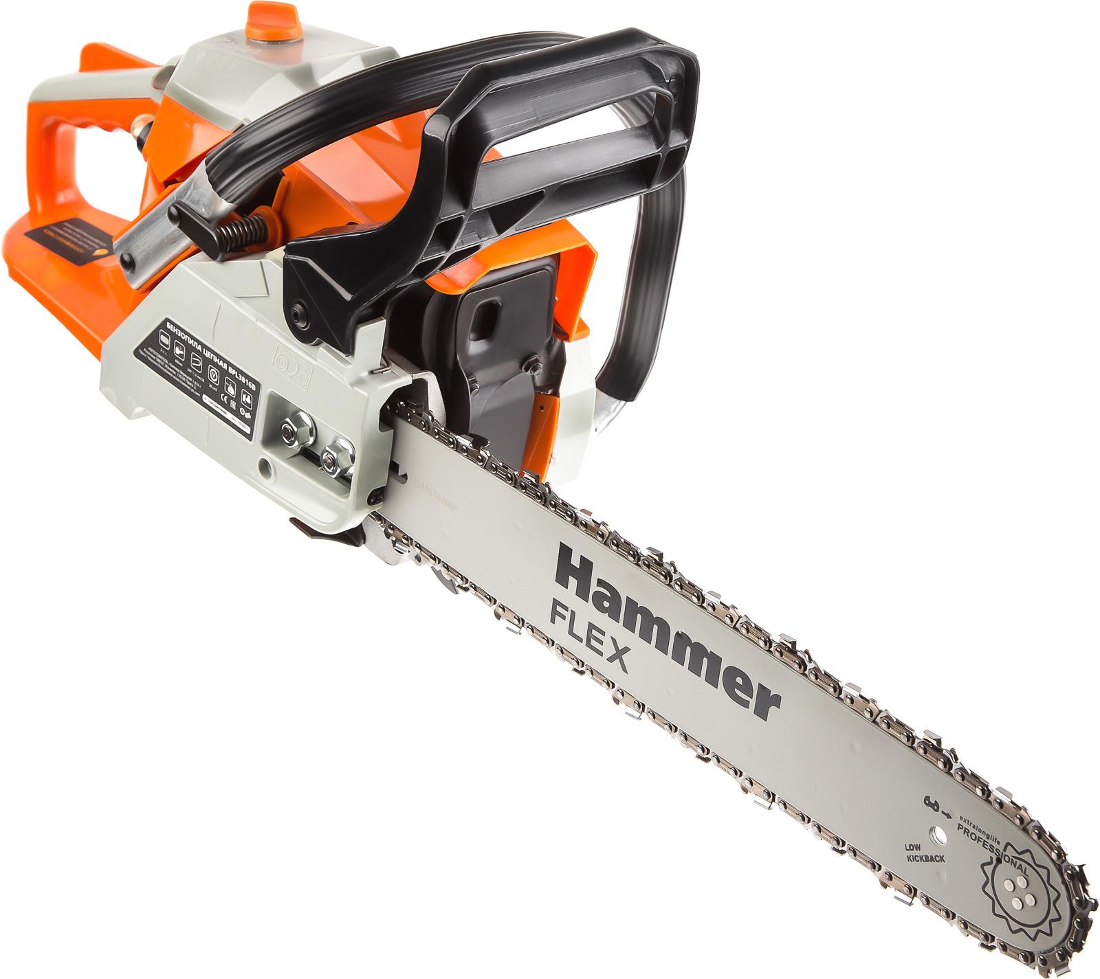лучшая цена Бензопила Hammer Flex BPL3816B 1470Вт 2л.с. дл.шин.:16