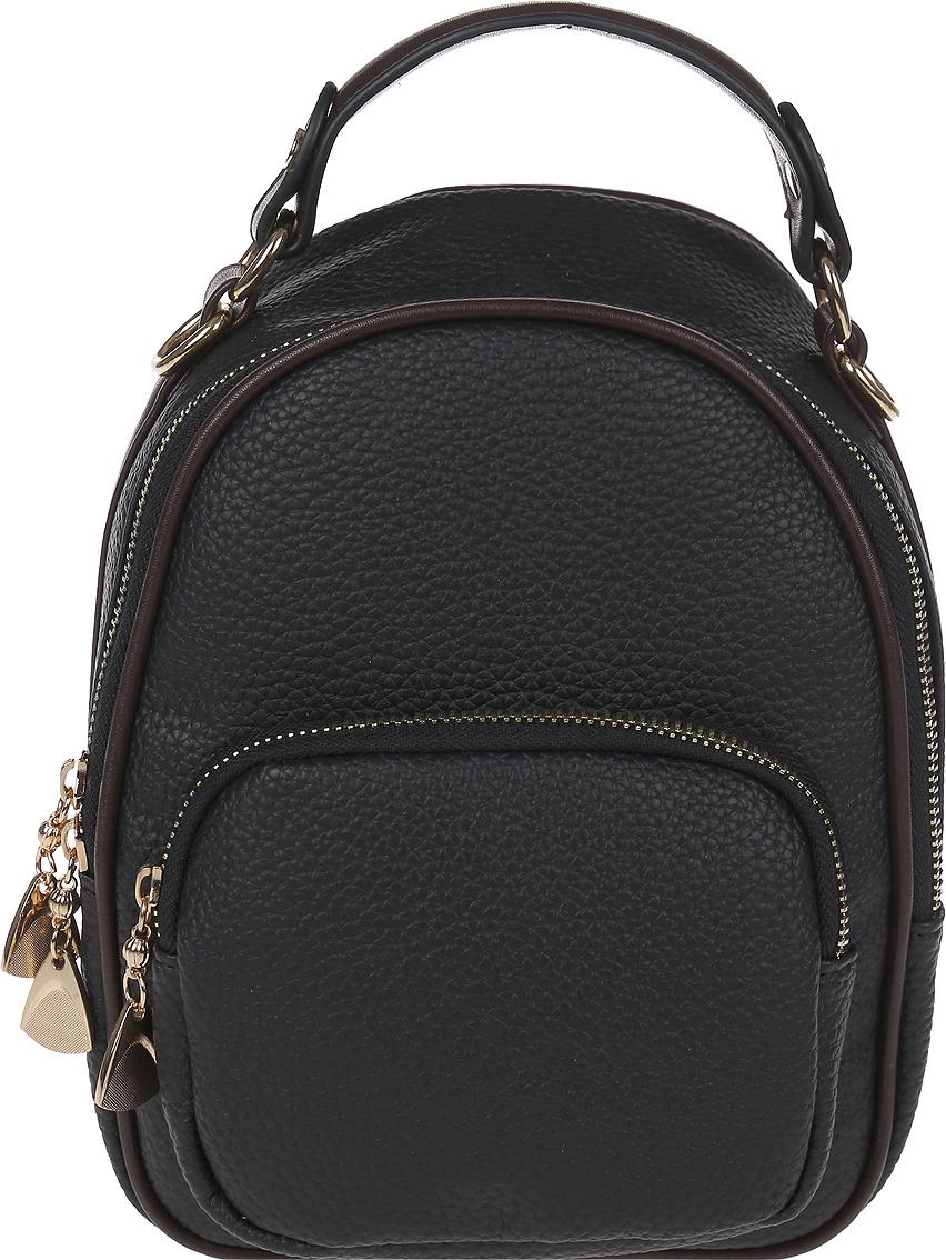 Рюкзак женский DDA, LB-1332 BK, черный рюкзак женский adidas backpack xs цвет черный dv0212