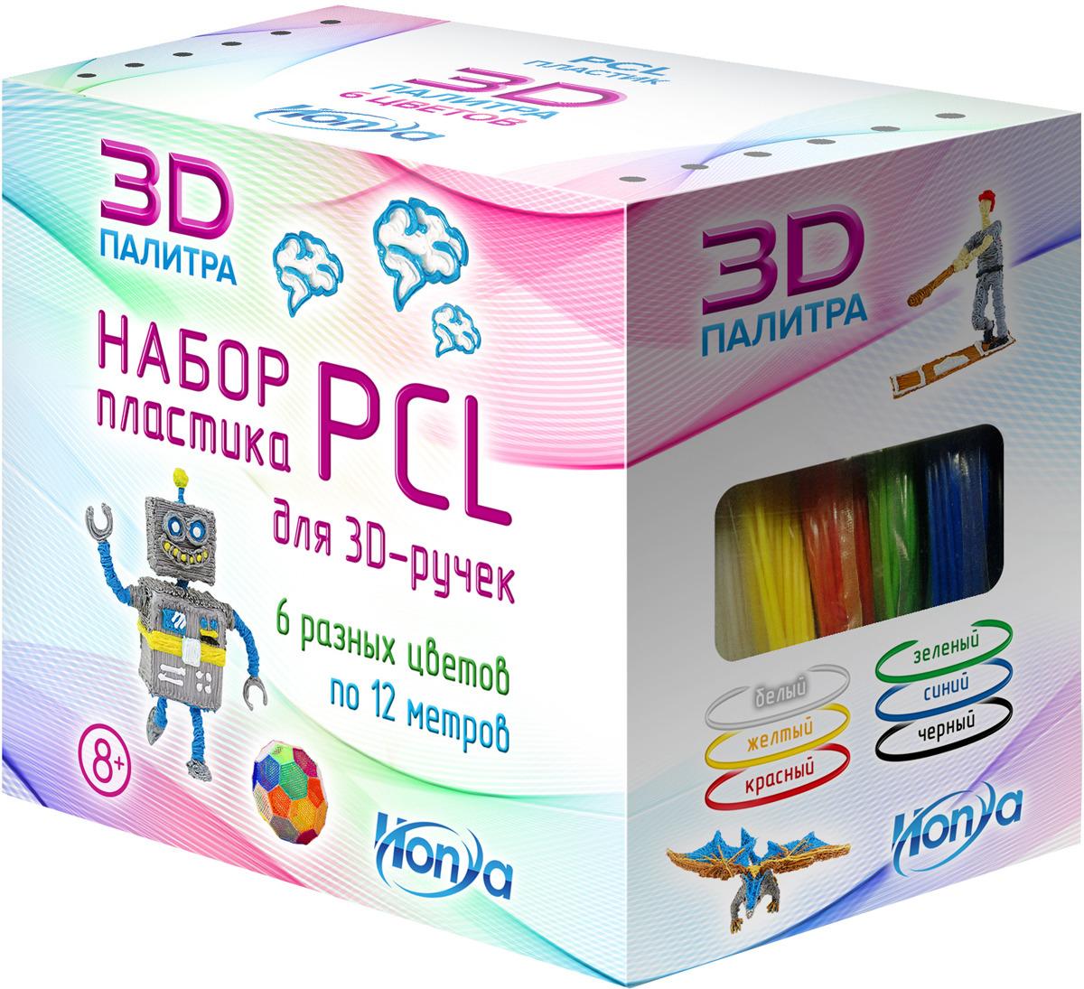Картридж для 3D ручки Honya SC-PCL-06, 6 цветов цены