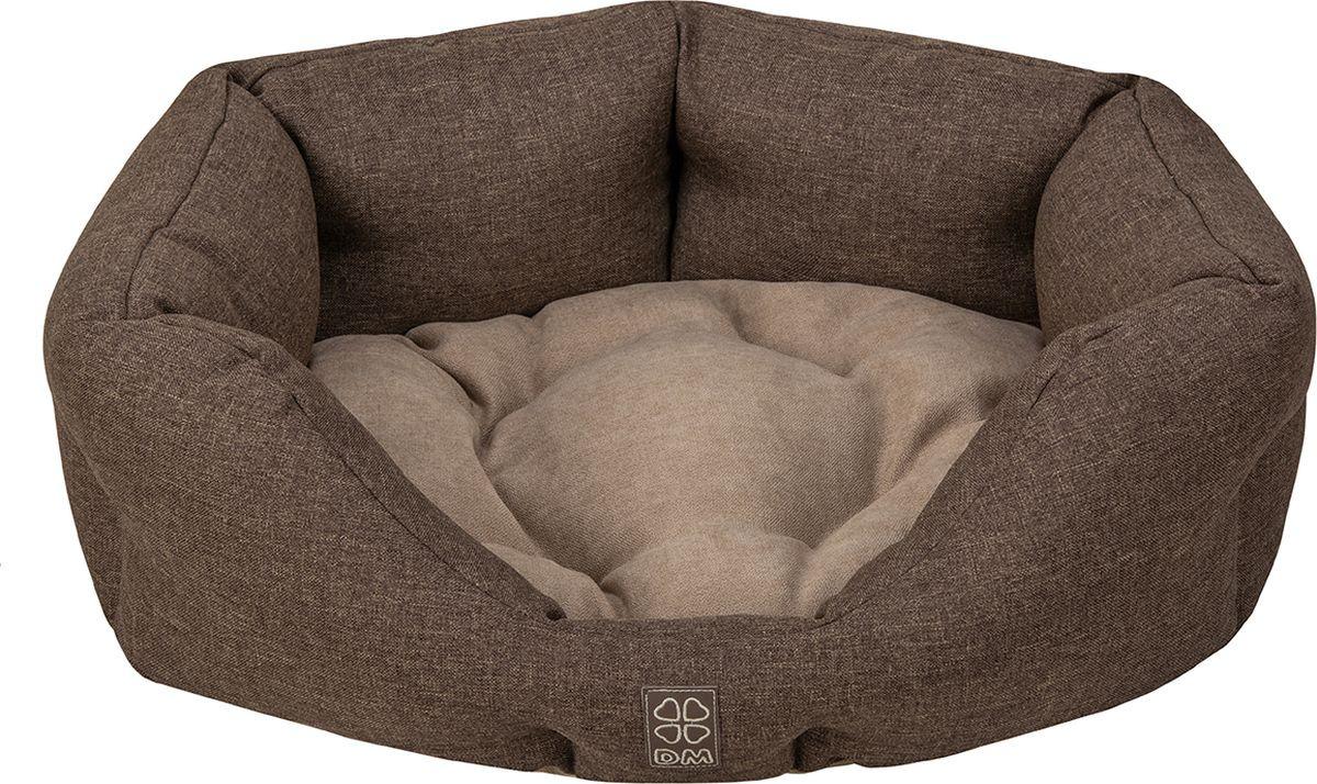 купить Лежак для животных Dogmoda Шарм, коричневый, 58 х 56 х 21 см по цене 1980 рублей