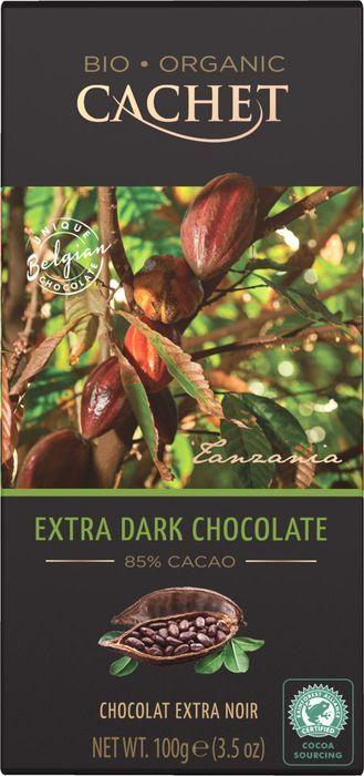 Шоколад горький Cachet Organic, 85% какао, 100 г цены