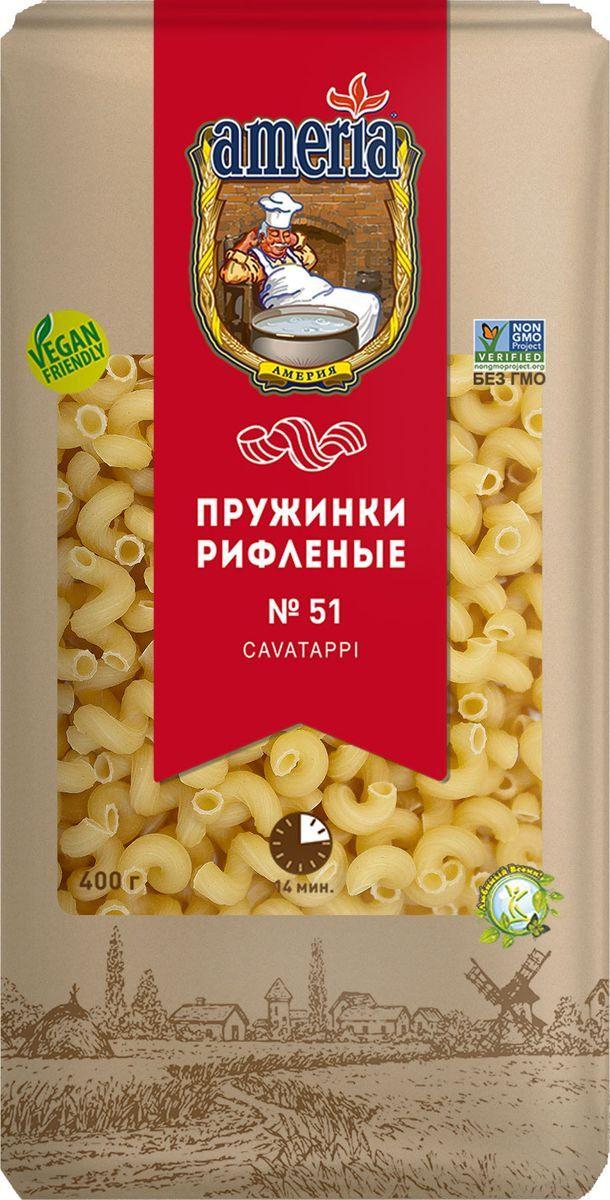 купить Макароны Ameria Пружинки рифленые № 051, 30 шт по 400 г по цене 761 рублей