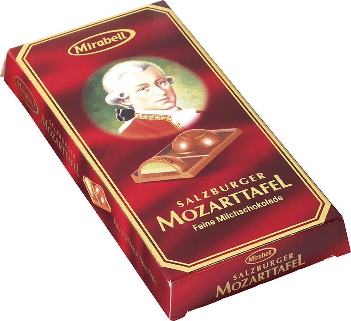 Шоколад молочный Mirabell Mozart, с начинкой, 100 г спартак шоколад молочный 500 г