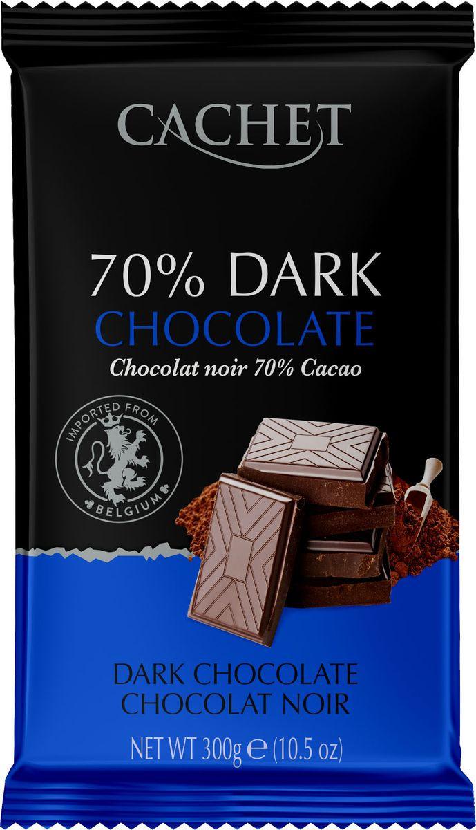 Шоколад экстра горький Cachet, 70% какао, 300 г
