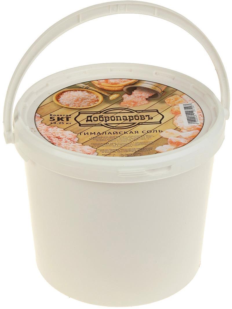 Гималайская розовая соль Добропаровъ, колотая, 5 кг приправка соль гималайская розовая со средиземноморскими травами 200 г