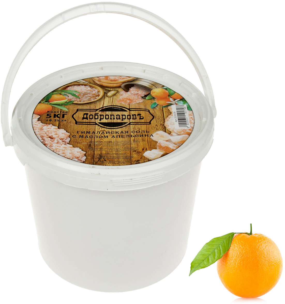 Гималайская розовая соль Добропаровъ, с маслом апельсина, колотая, 5 кг приправка соль гималайская розовая со средиземноморскими травами 200 г