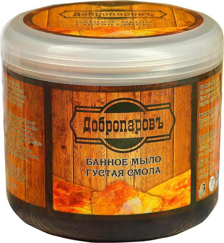 Густое мыло для бани Добропаровъ Густая смола, 450 мл густая себорея кожи