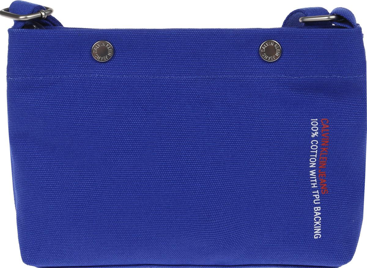 Сумка женская Calvin Klein Jeans, K60K605236_4550, синий блузка женская calvin klein jeans цвет синий j20j207813 4040 размер s 42 44