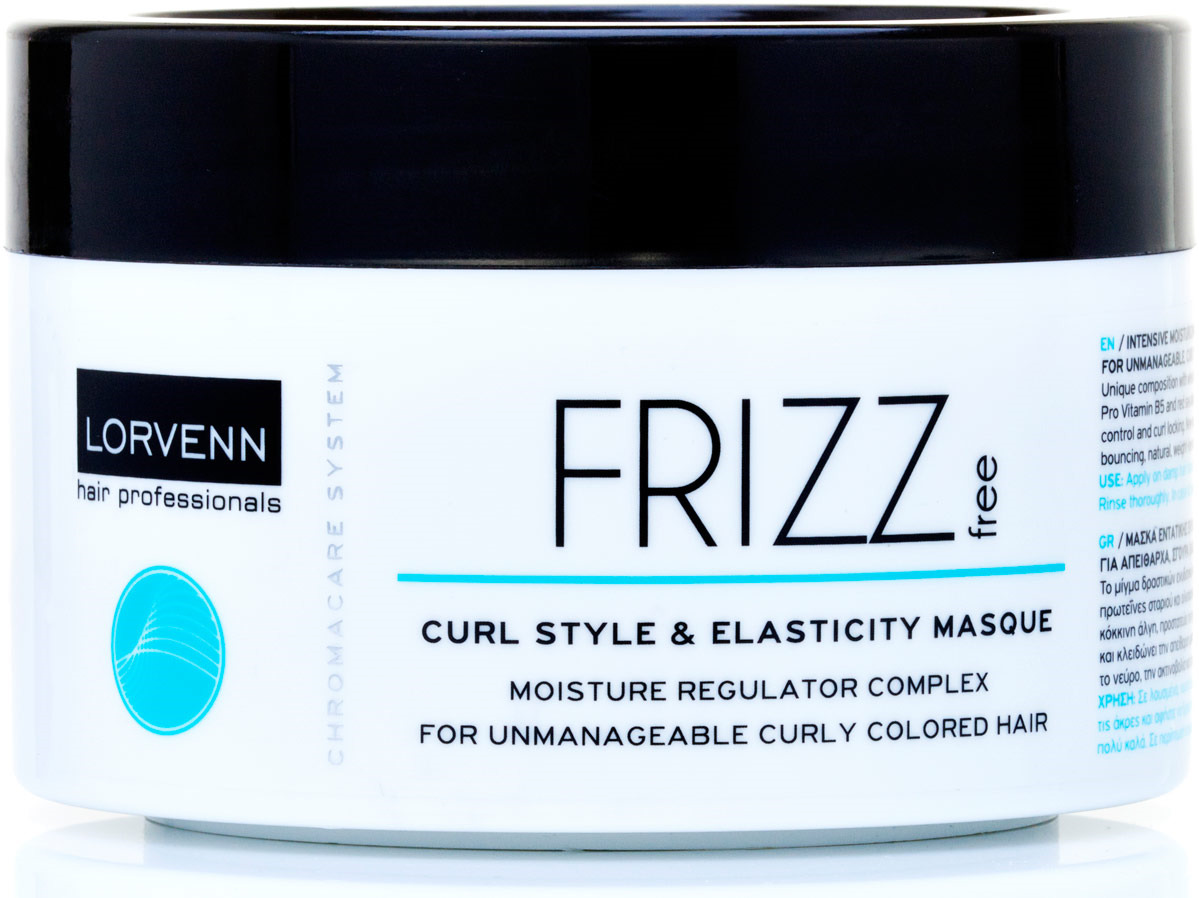шампуни lorvenn шампунь для непослушных вьющихся и окрашенных волос frizz free 100мл Маска Lorvenn Frizz Free, для интенсивного увлажнения непослушных, вьющихся и окрашенных волос, 500 мл