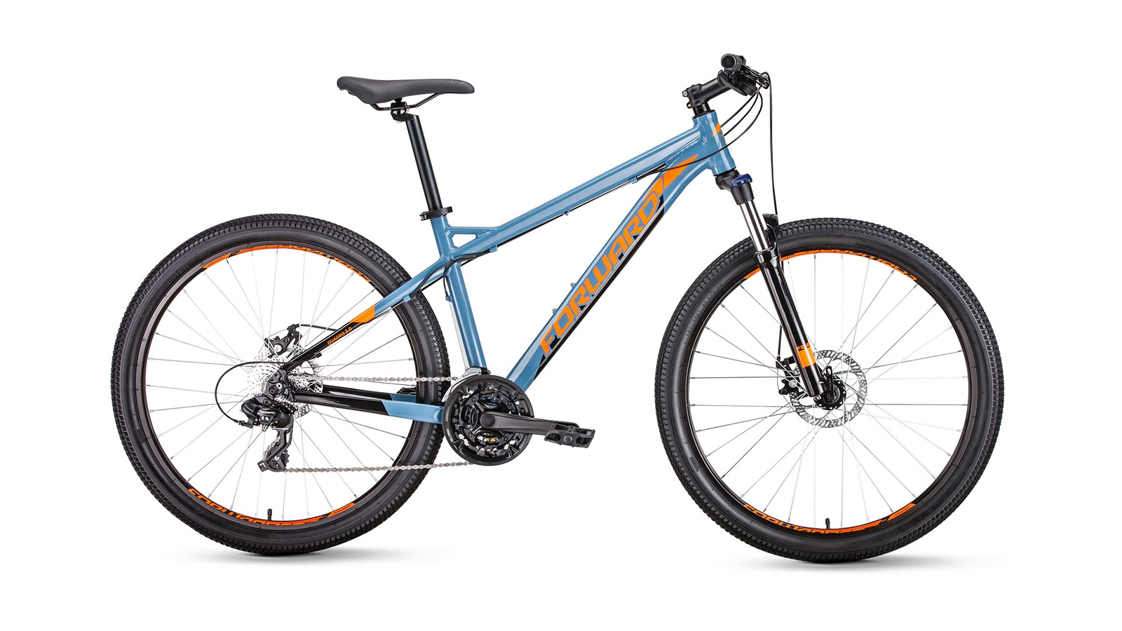 цена на Велосипед Forward Quadro 27,5 2.0 disc, серый