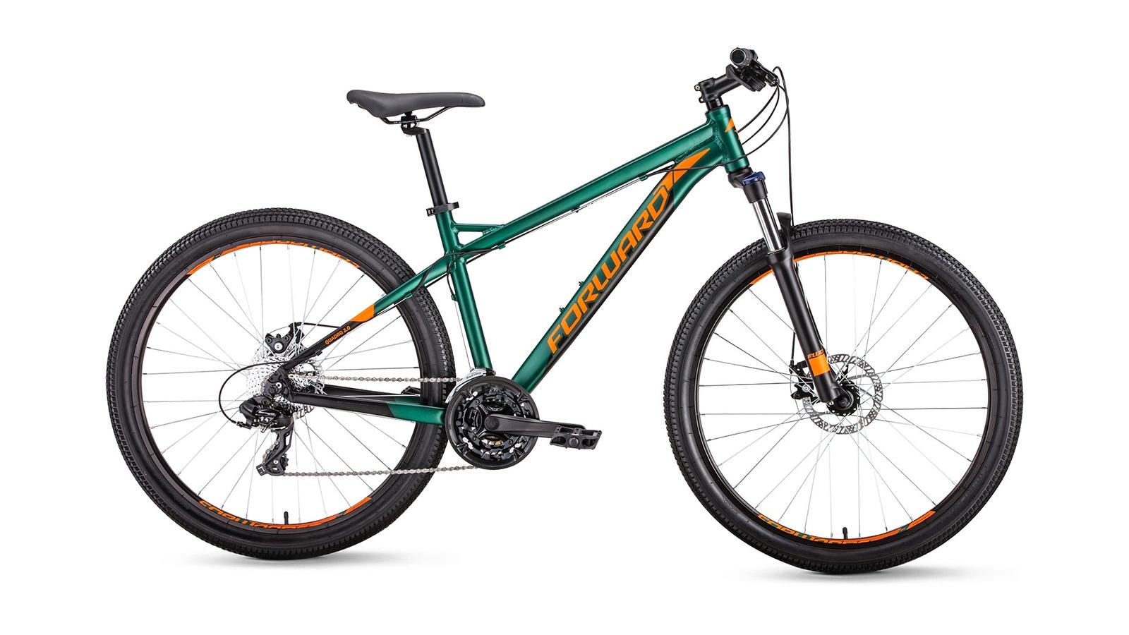 Велосипед Forward Quadro 27,5 2.0 disc, зеленый