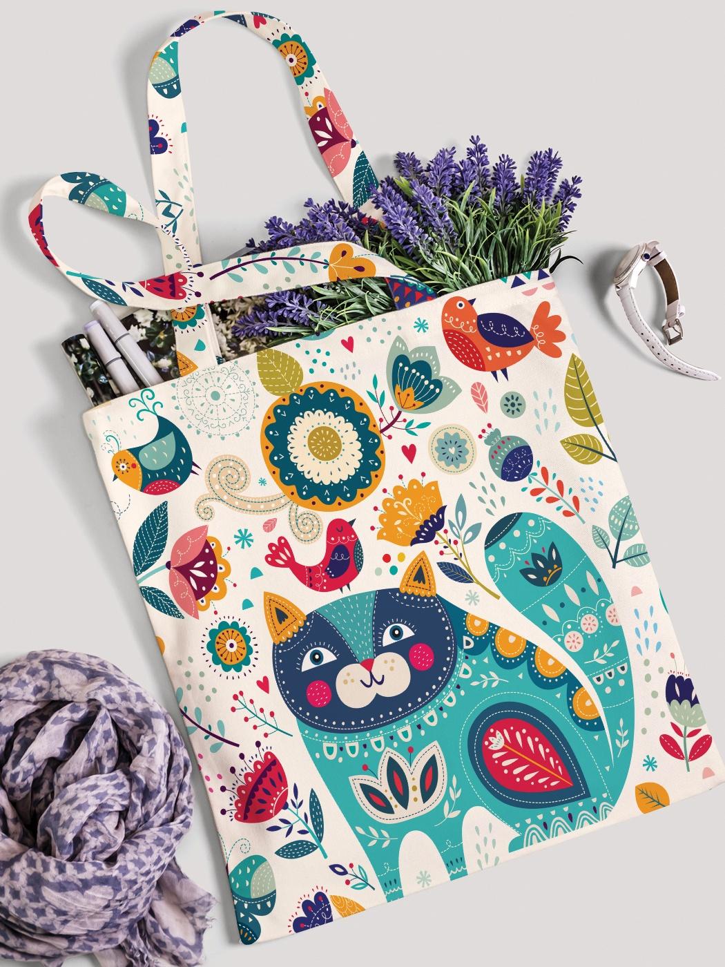Сумка-шоппер JoyArty сумка для покупок текстильная йошкин кот
