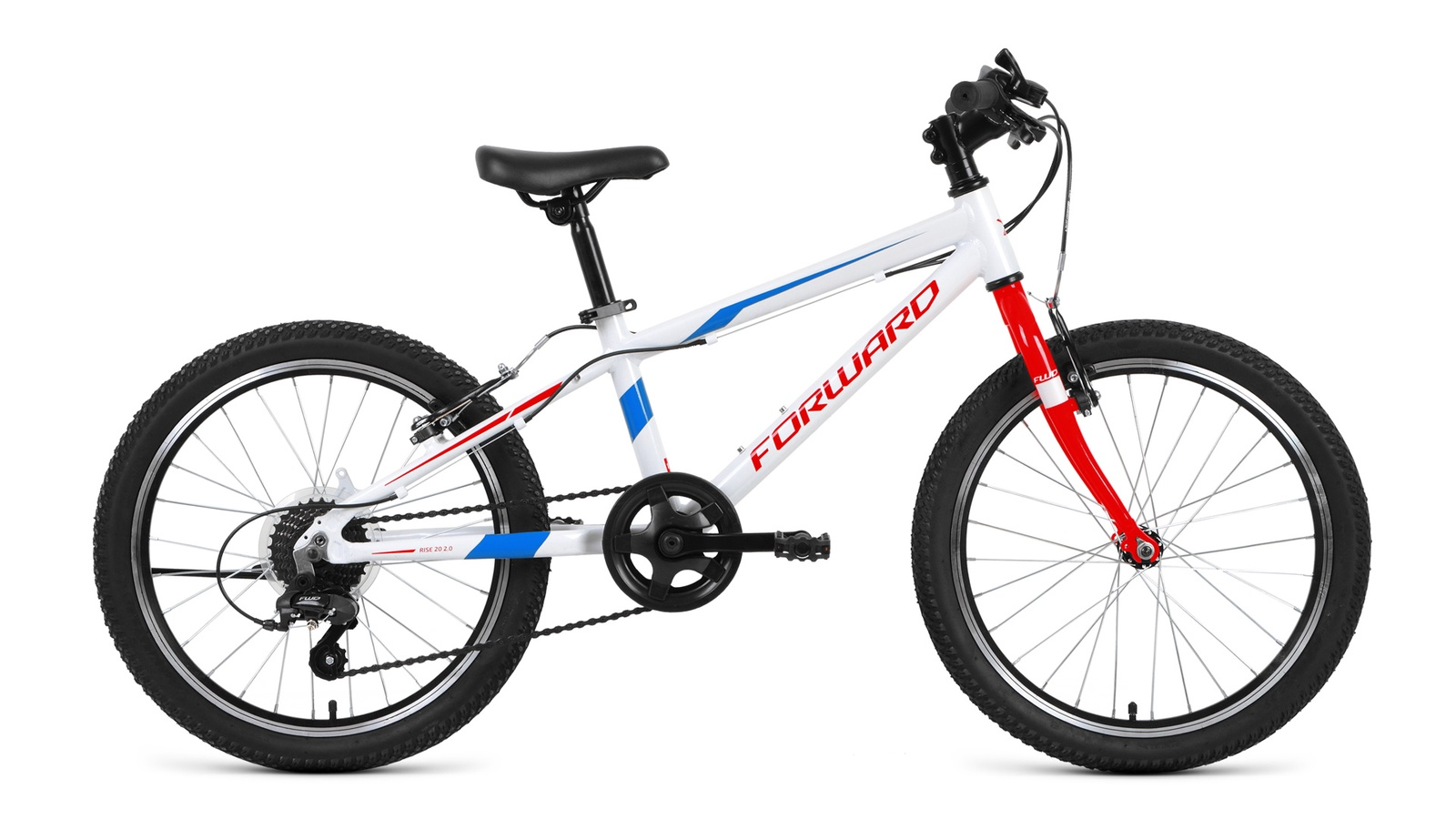 Велосипед Forward Rise 20 2.0, белый, красный