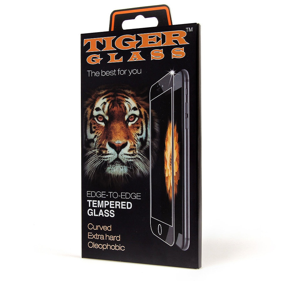 Защитное стекло Tiger 3d iPhone 6 / 6S, белый защитное стекло с силиконовыми краями perfeo для черного iphone 6 6s глянцевое pf tg3d iph6 blk