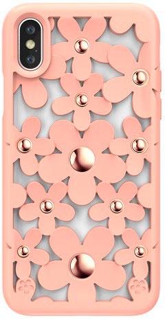 Чехол для сотового телефона SwitchEasy Fleur for 2018 iphone XS, розовый цена